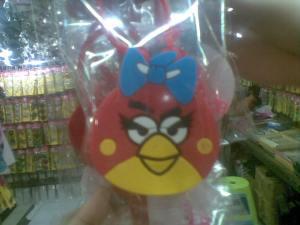 hand gel angry bird cewek